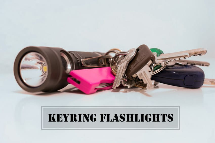 Keychain Pocket Knife Key Flashlight Door Key